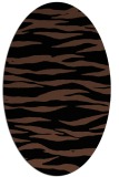 rug #414073 | oval brown stripes rug
