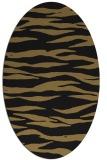 rug #414077 | oval black stripes rug