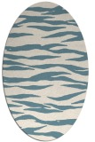 rug #414081 | oval white animal rug