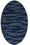 rug #414089 | oval blue animal rug