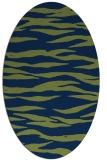rug #414093   oval green animal rug
