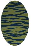 rug #414094 | oval stripes rug