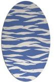 rug #414097 | oval blue animal rug