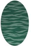 rug #414113 | oval blue-green popular rug