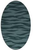 rug #414129 | oval blue-green rug