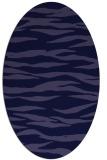rug #414141 | oval blue-violet animal rug