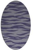 rug #414145 | oval blue-violet popular rug
