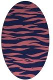 rug #414149 | oval blue-violet animal rug