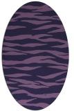 rug #414153 | oval blue-violet animal rug