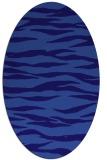rug #414161 | oval blue-violet animal rug