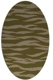 rug #414177 | oval brown stripes rug