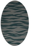 rug #414185   oval green animal rug