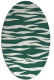 rug #414189   oval green animal rug