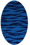 rug #414225 | oval blue animal rug