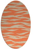 rug #414253 | oval beige animal rug