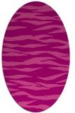 rug #414265 | oval pink rug