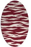 rug #414269   oval pink stripes rug