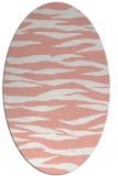 rug #414277 | oval white stripes rug