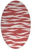 rug #414279 | oval animal rug