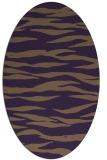 rug #414289 | oval purple animal rug