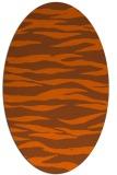 rug #414321   oval red-orange stripes rug