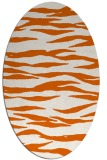 rug #414325 | oval red-orange animal rug
