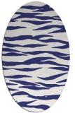 rug #414337 | oval blue animal rug