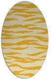 rug #414345 | oval yellow animal rug