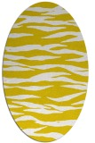rug #414357 | oval yellow animal rug