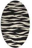 rug #414365 | oval black stripes rug