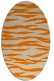 rug #414373   oval orange animal rug