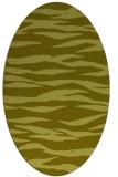 rug #414377 | oval light-green animal rug