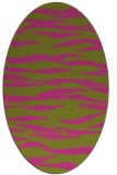 rug #414385 | oval light-green rug