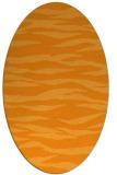 rug #414401 | oval light-orange animal rug