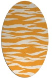rug #414405 | oval light-orange stripes rug