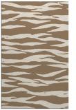 rug #414561 |  mid-brown stripes rug