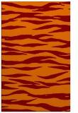 rug #414597 |  red-orange animal rug