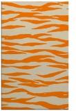 rug #414725 |  orange stripes rug