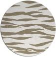 rug #414761   round white stripes rug