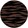 rug #414777   round black stripes rug
