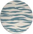 rug #414785   round blue-green animal rug