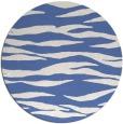 rug #414801 | round blue stripes rug