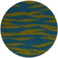 rug #414821 | round green animal rug