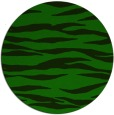 rug #414829 | round green stripes rug