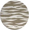 rug #414901 | round mid-brown stripes rug