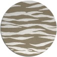 rug #414901 | round white animal rug