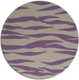 rug #414941   round purple stripes rug