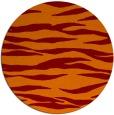 rug #414949 | round red-orange animal rug