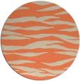 rug #414957 | round orange stripes rug