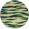 rug #414965 | round yellow animal rug